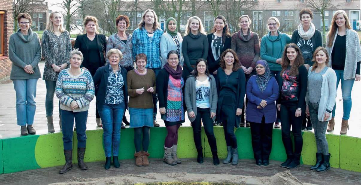 Het zorg-wijkteam actief in de wijk Malburgen
