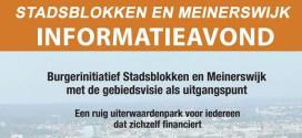 17 Maart – informatiebijeenkomst Stadsblokken Meinerswijk