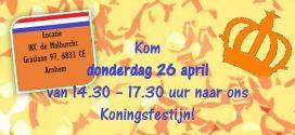 26 april – Koningsfestijn bij de Malburcht